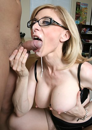 Mature milf facial